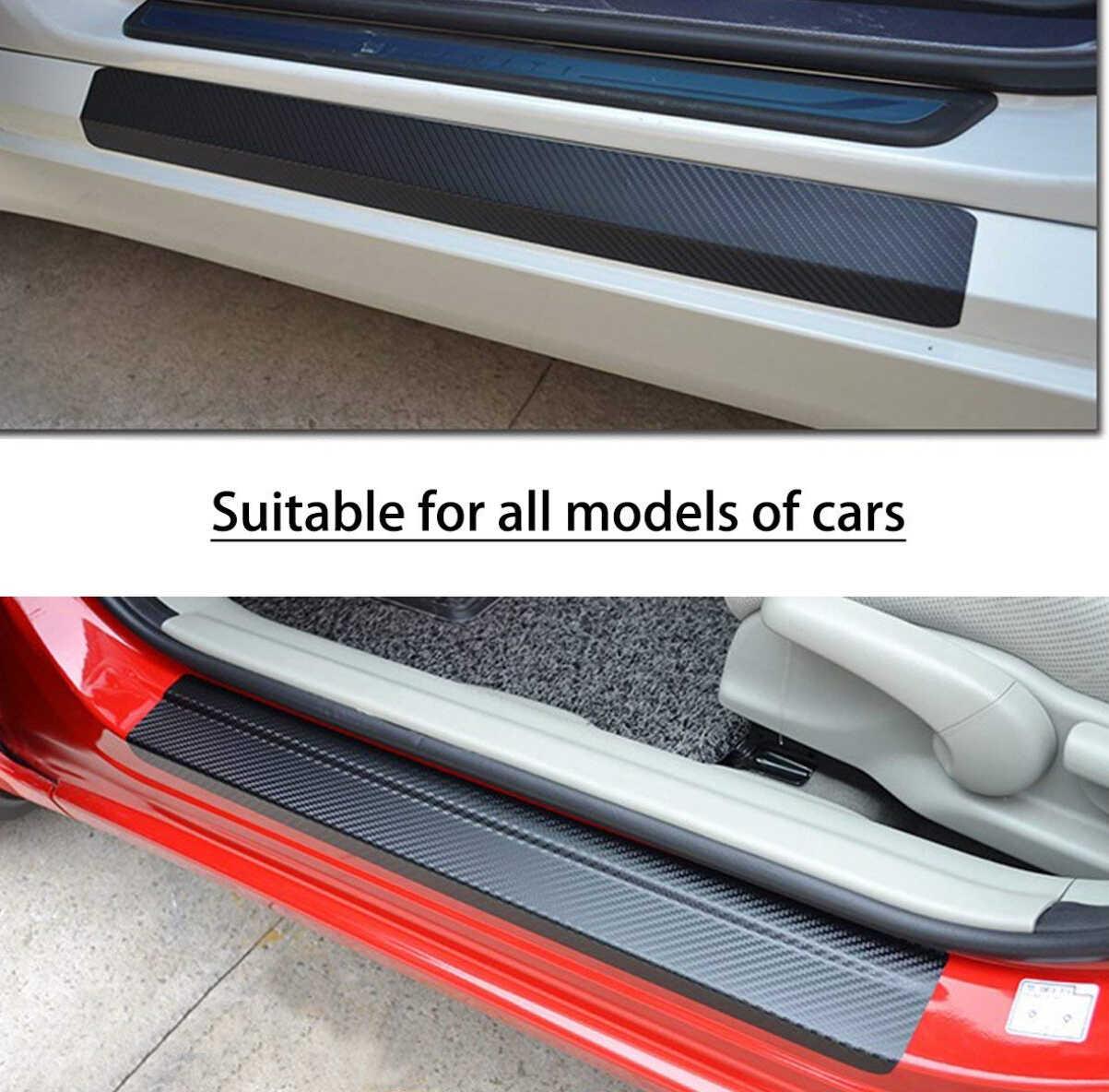 Cửa Xe Scuff Tấm Dán Vinyl Decalfor Megane Ghế Leon 1 Suzuki Samurai Audi A3 8 V VW Passat B6 xe Mazda 6 BMW R1200GS