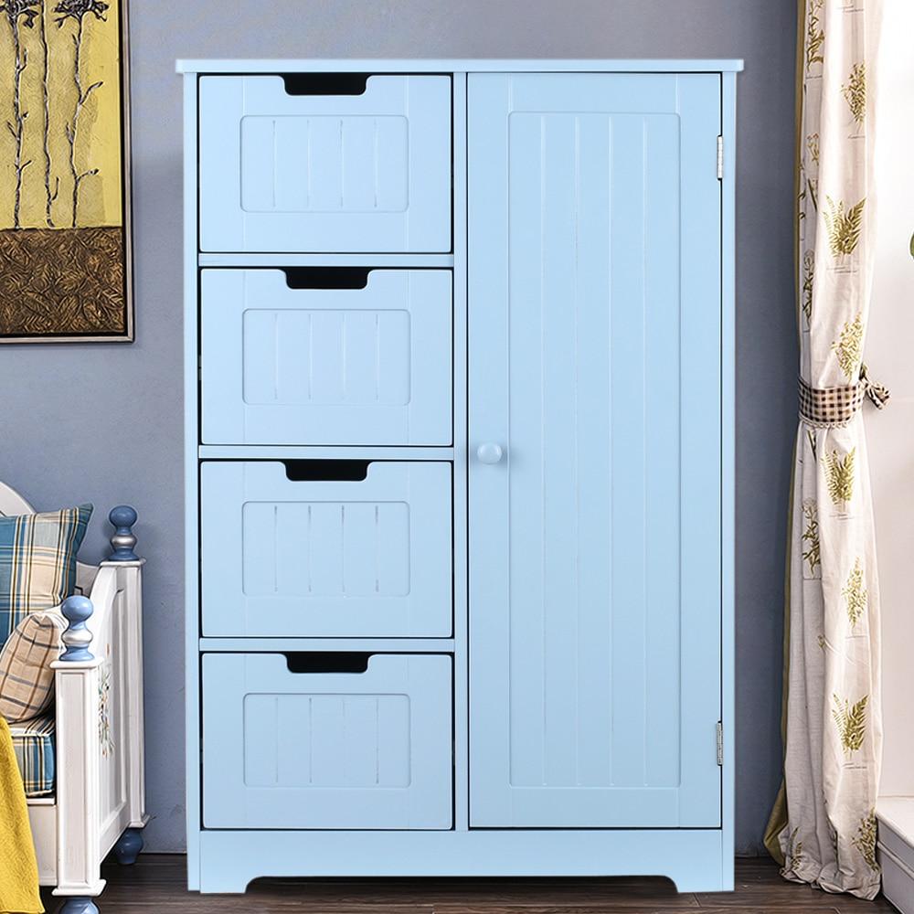 IKayaa Modern Shelved Floor Cabinet With Door /& Drawers Bedroom Storage US Ship