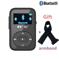 Bluetooth mp3 player with Clip Original RUIZU X26 8GB mp3 music player Support SD Card FM