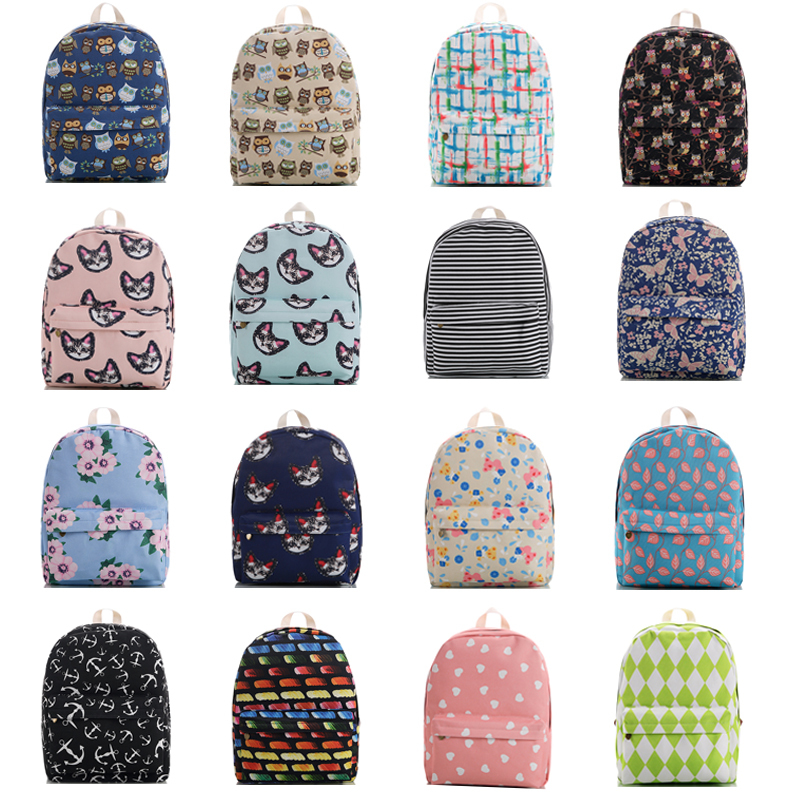 Aliexpress.com : Buy Cute Book Bags For Teenagers Canvas School ...