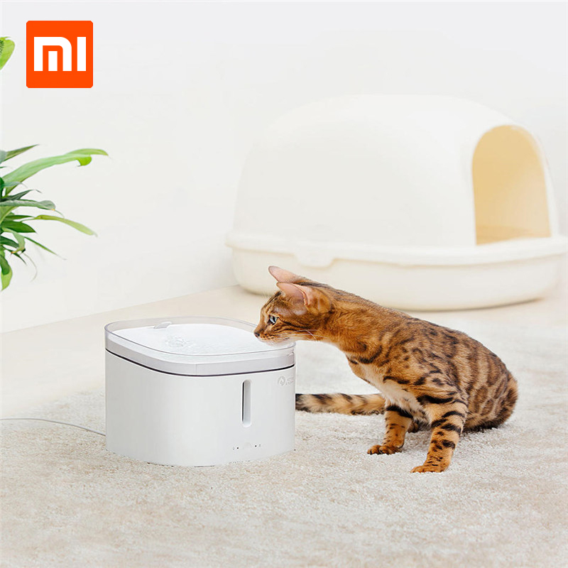 Xiaomi Creative Simple Pet Water Dispenser For Small Large Dogs Puppy Cat Drinking Bowl Home Pet Dog Feeders Pet Products pet carrier bag for cat dog fully enclosed small size camel