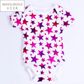 Cotton Baby Romper Girl and Boy Short Sleeve Star Print Summer Clothing for Newborn Jumpsuits & Rompers