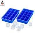 Silicone Ice Cube Tray 15 Perfect Square Ice Tray Superior Mold With Flexible Easy Release Ice Cube Maker Mould Color Random