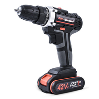 42V Rechargeable Lithium Battery Double Speed Cordless Drill Electric Drill Wrench Powerful Driver Household Car Tools01