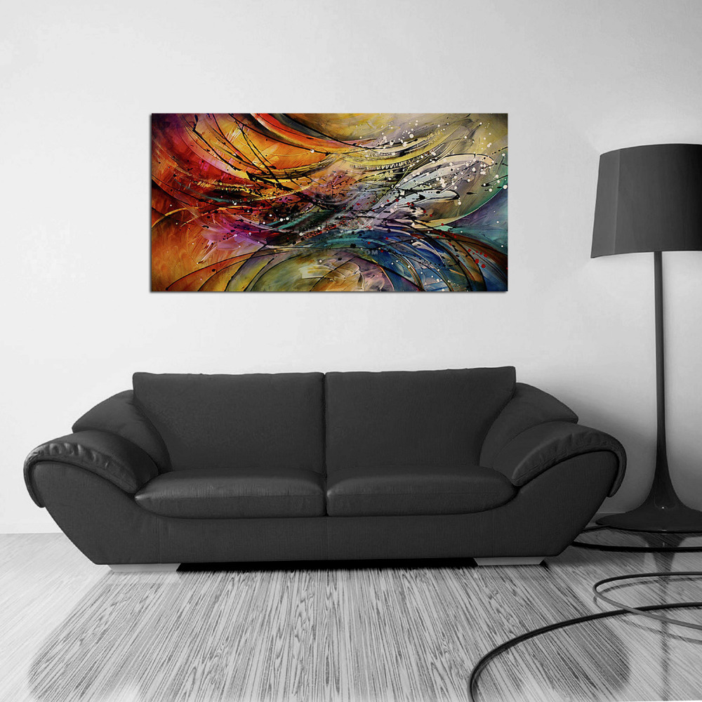 Living Room Paintings Art Aliexpresscom Buy Iarts Hand Painted Unframed Oil Painting