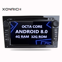 Xonrich Double Din Car Multimedia player Android 8.0 Auto DVD Player For OPEL/ASTRA/Zafira/Combo Radio Octa Core 4G RAM 32G ROM