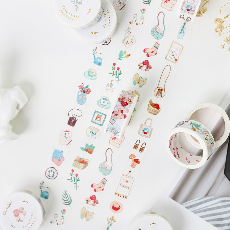 1.5cm Fairy Tale Ownday Bullet Journal Washi Tape Adhesive Tape DIY Scrapbooking Sticker Label Masking Tape