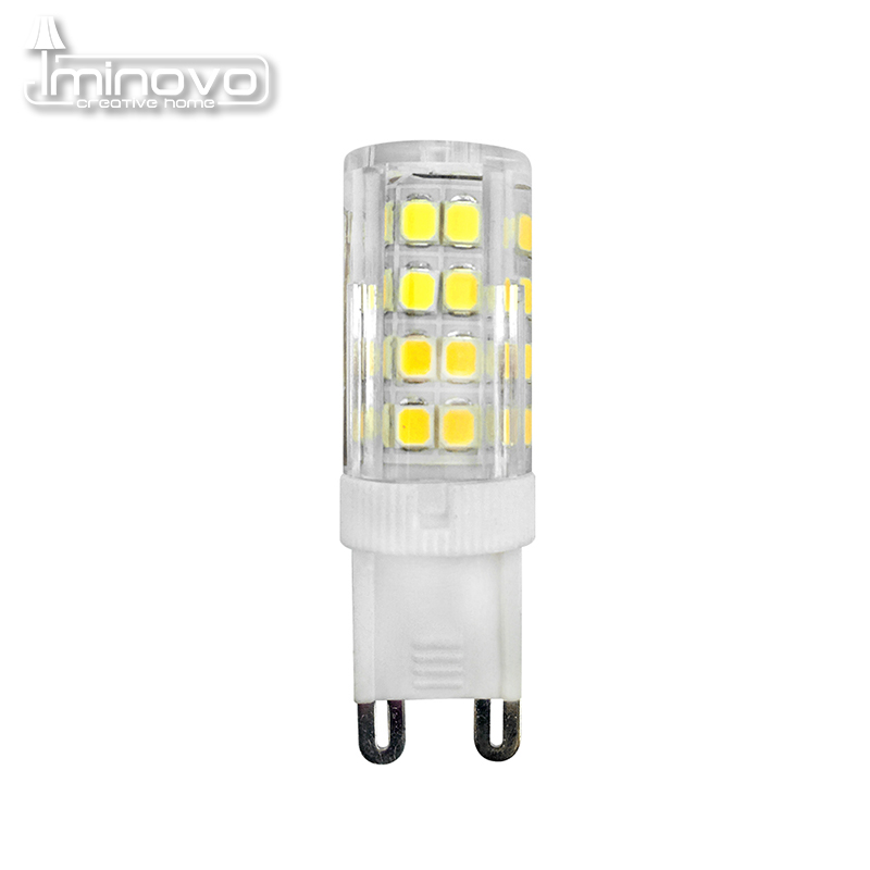 IMINOVO 20 Pcs G9 LED Light Bulb AC 110V 220V 2835 7W 9W Corn Bulb Replace Halogen Chandelier Lamp Corn Bulbs Crystal Silicone lan mu 10 pcs g9 led 220v 7w 9w 10w 11w corn bulb 360 degrees lamp g9 bulbs high quality chandelier light replace halogen lamp