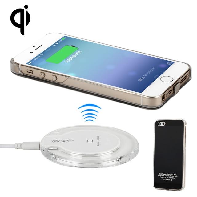 c2eec13f276 Cargador inalámbrico Antye para iPhone 5 5S, incluyendo almohadilla de  cargador inalámbrico y cubierta del