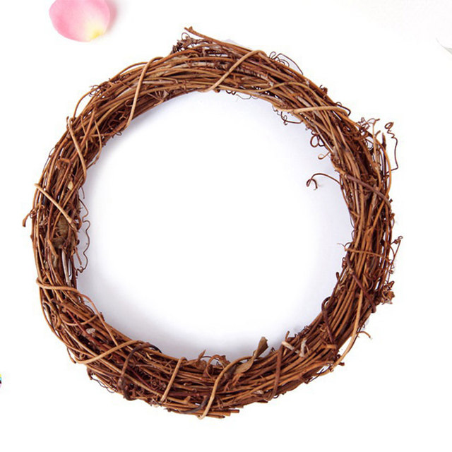 Hot 10-25cm Christmas Wedding Wreaths Decoration Rattan Wreath Home Decoration Material DIY Wreath Party