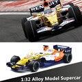 1:32 сплава F1 гоночный автомобиль модели, литье металла, звук и свет обратно к власти классические автомобили автомобиль игрушки, бесплатная доставка