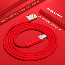 Power4 Silicone Double USB Cable For Lightning Cable Charger For iPhone Fast Charge 2.4A Charging Cable For iPhone 6s 7