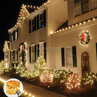 Solar Powered 50M 500Leds 165FT Outdoor Copper Wires String Lights Solar Light Bouquet Decororation Lamps Luce