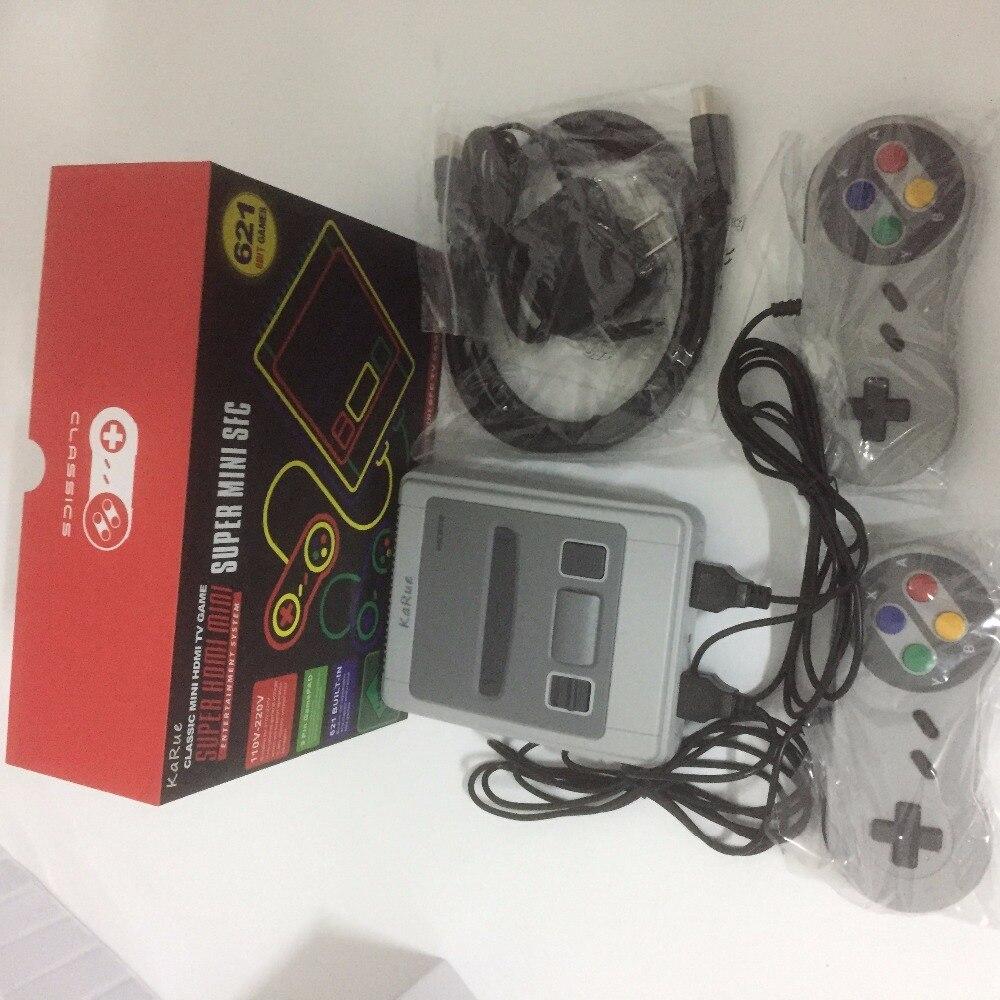 KaRue  Retro Childhood Mini TV  621 Different Games Handheld Video Game Console For Nes Games PAL+NTSC dual gamepad
