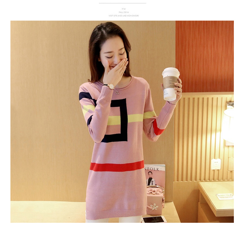 18 DRL sweater women Basic woman sweater pullovers long sleeve Jumper Long Sleeve Sweaters Autumn Winter pull femme hiver 3