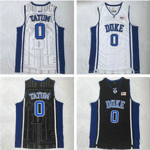 ... cheapest duke blue devils 0 jayson tatum white blue embroidery stitched  college basketball cdfcd 3253d a9f4083c2