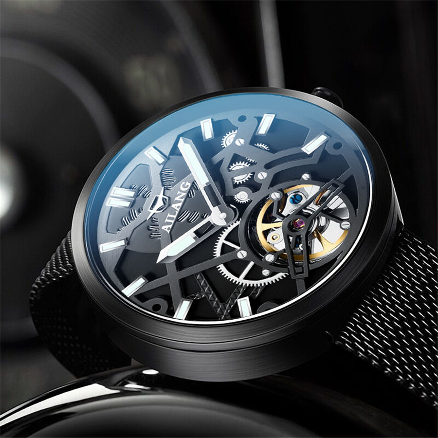 34ccd24df317e New Watch Men Sport Automatic Mechanical Watches Colorful Fashion and  Casual Watches Clearly See Analog Male Tourbillon Clock