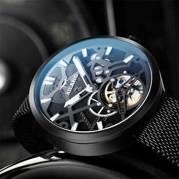 New Watch Men Sport Automatic Mechanical Watches Colorful Fashion and Casual Watches Clearly See Analog Male Tourbillon Clock - DISCOUNT ITEM  40% OFF All Category