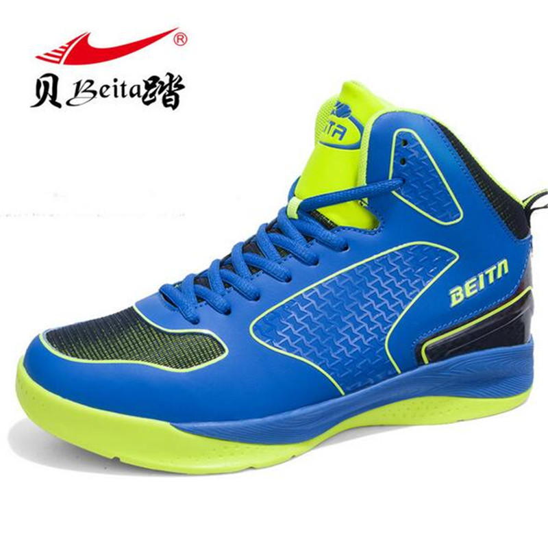 4cbc8a81b6b Men s Super Hot Authentic Basketball Shoes Sneakers Support Ankle Boots  Sports Shoes Outdoor Zapatillas BT6702-in Basketball Shoes from Sports ...