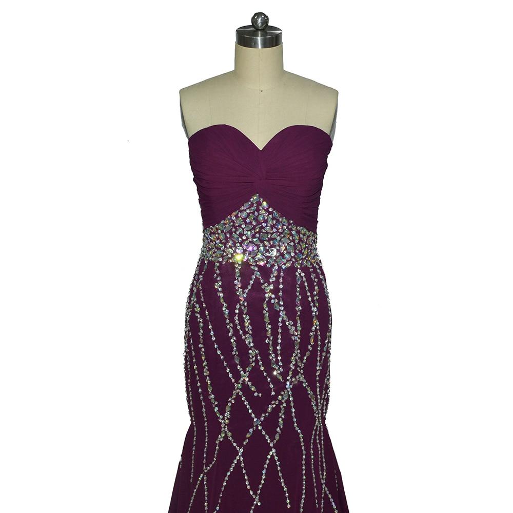Fantastische nieuw ontworpen lieverd zeemeermin paarse prom dresses - Jurken voor bijzondere gelegenheden - Foto 2