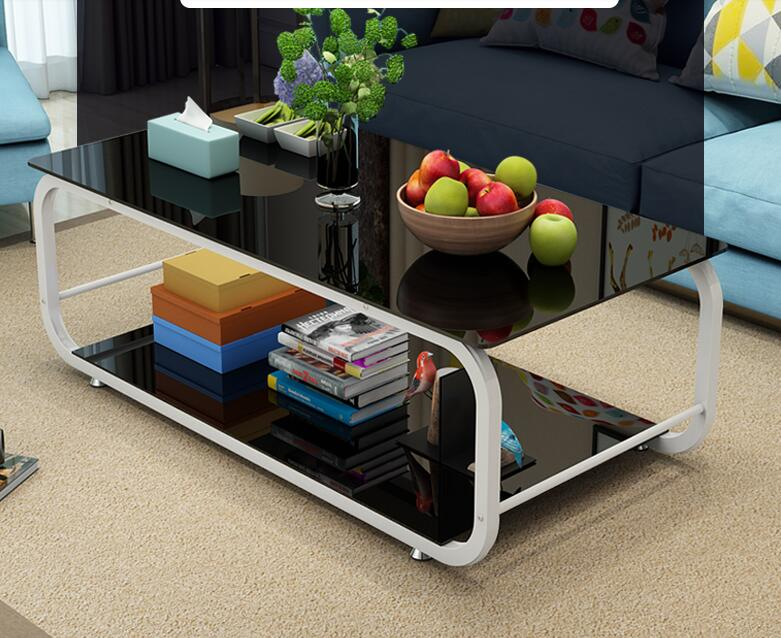 Modern tea table. Tempered glass tea table. Rectangular small family tea table.. toughened glass small tea table phone sofa the round table