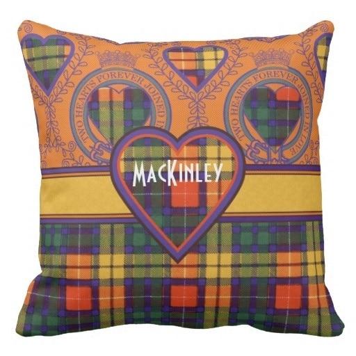 Soft Mackinley Clan Plaid Scottish Kilt font b Tartan b font Throw Pillow Case Size 20