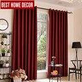 BHD moderna cortinas para el tratamiento de la ventana persianas terminados ventana cortinas blackout cortinas para la sala de estar del dormitorio