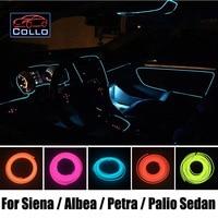 Newest DIY EL Wire For Fiat Grand Siena / Albea / Petra / Palio Sedan / Car Decoration Cold Light Atmosphere Lamp 9 Meter A Set