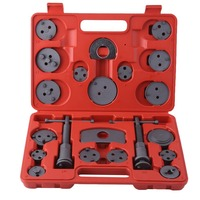 Universal 22pcs Disc Brake Caliper Wind Back Kit For Brake Pad Replacement For Most Cars Garage Repair Tool With Carry Case