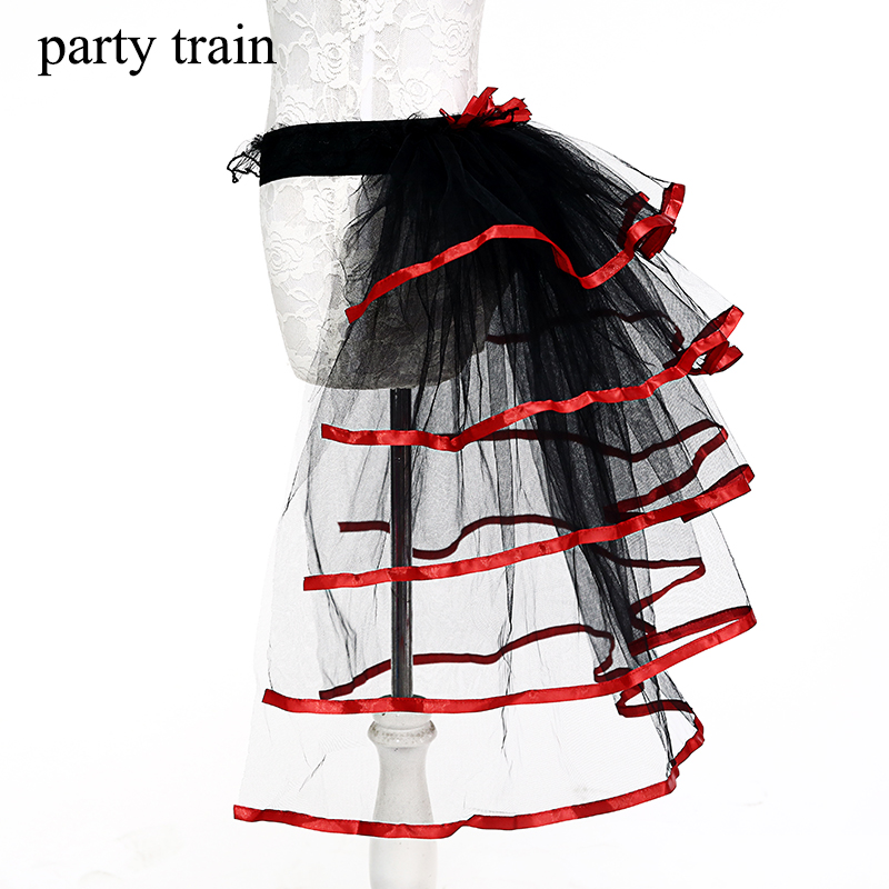 party train Official Store 2017 Fashion Mesh Trendy Tutu Skirt Stage Tulle Mermaid Moda Feminina Saia De Petticoat Jupe With For Party