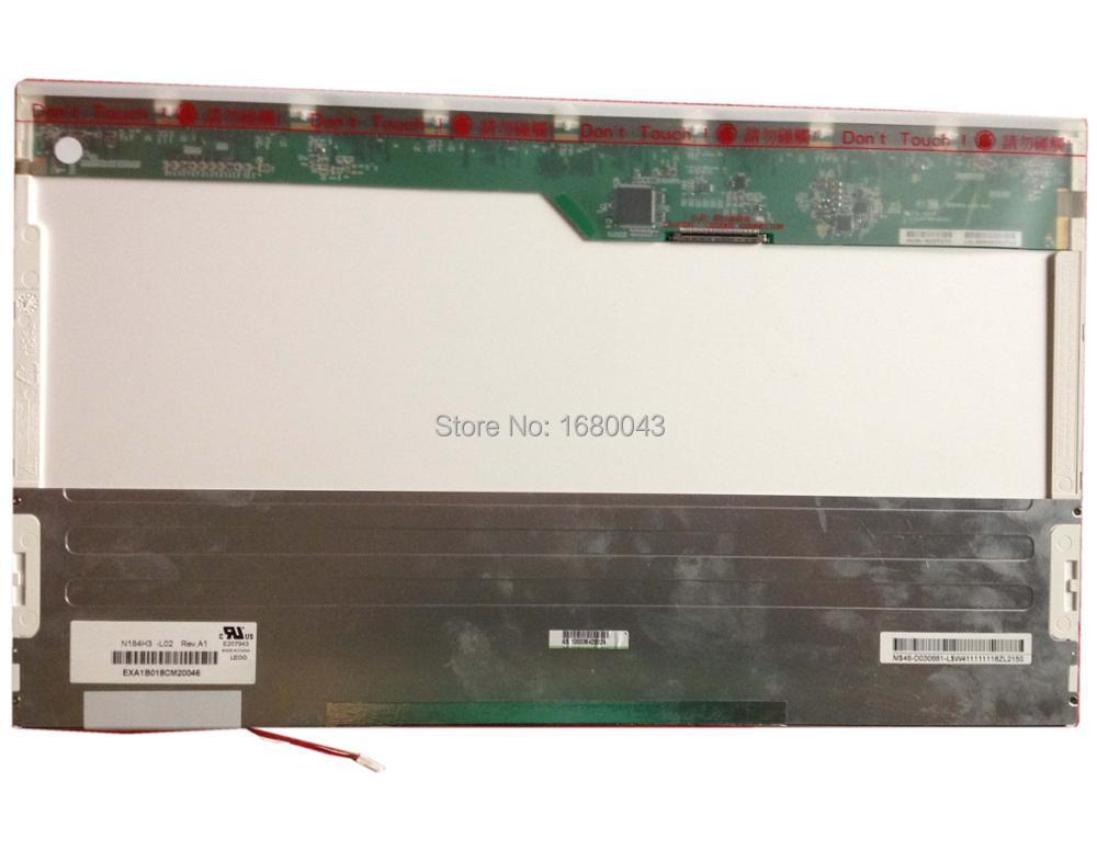 N184H3-L02 fit N184H3-L01 18.4 LCD 1920*1080 LCD LED SCREEN PANEL 1 CCFL 1 lamp g121s1 l01 lcd displays