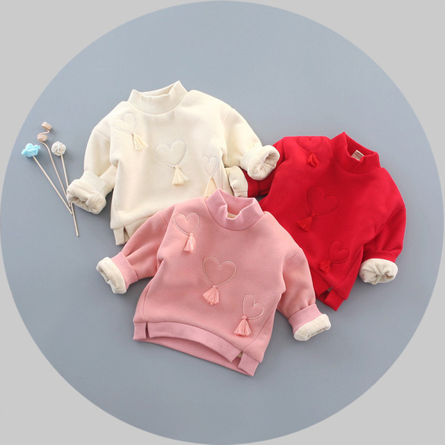 10bb0a101 Children s Clothing and Cashmere Thickened Bottoming Shirt Cute ...