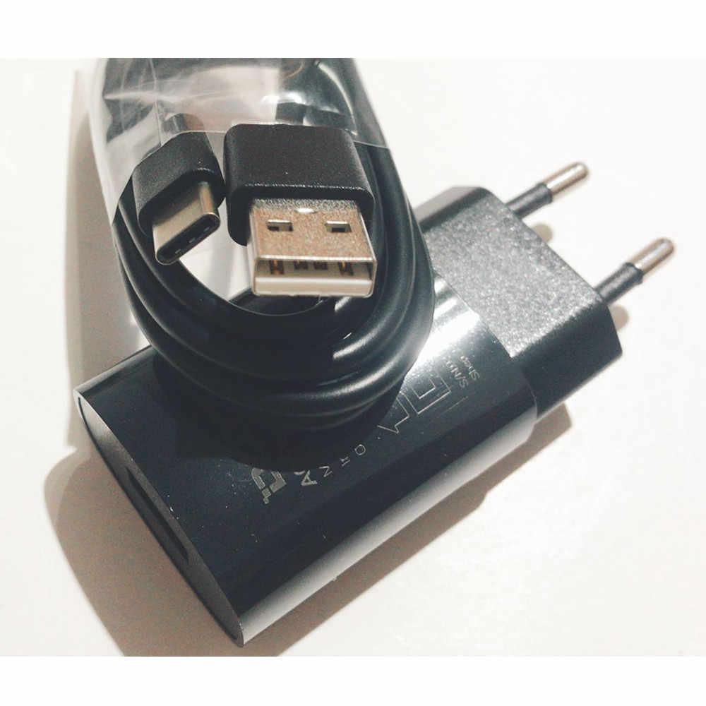 Oryginalny nowy Doogee S90 zasilacz sieciowy ładowarka podróżna adapter wtyczki eu + type-c kabel USB do telefonu komórkowego Doogee S90