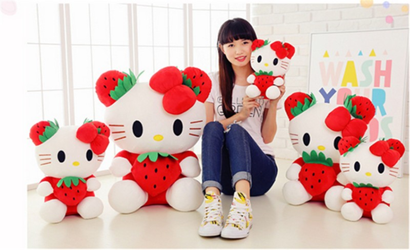 fancytrader cartoon lovely stuffed plush large giant hello kitty kt cat plush doll toys 65cm Christmas birthday gift  7