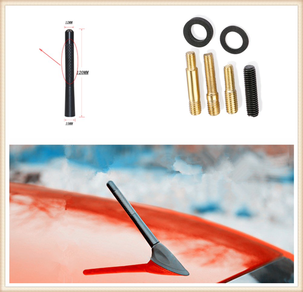 Auto parts carbon fiber personalized radio antenna signal reception for Toyota Yaris Tundra Tacoma RAV4 Corolla Aygo Avalon