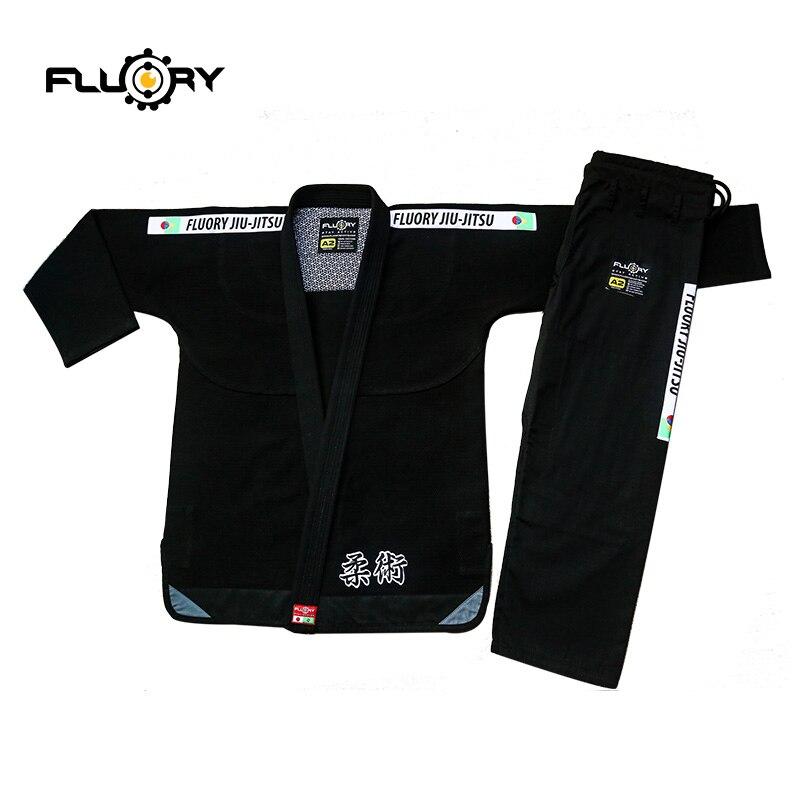 2018 New Design Fluory  BJJ Kimonos Competing Brazilian Jiu Jitsu Gi 350gsm Pearl Weave Bjj Gis