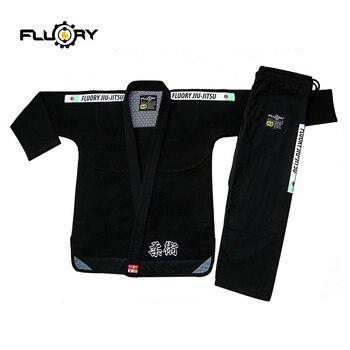 Nuevo diseño de kimonos fluory BJJ, tejido de perla Jitsu Gi 350gsm de Jiu Jitsu brasileño de la competencia, bjj gis, 2018