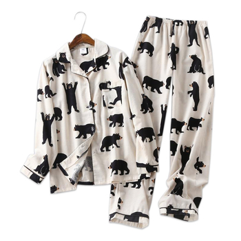 Cute white bear women pajama sets sleepwear