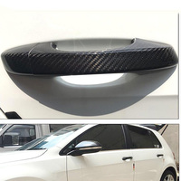 Auto Exterior Carbon Fiber Made Door Handle Cover Sticker Decorations Overlay Trim For Volkswagen Golf 6