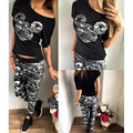 Summer Tracksuits Women S-XL Cartoon Mickey Printed Short Sleeve Tops Full Pant Women Jogger Sportsuit Femme Kawaii Clothing Red