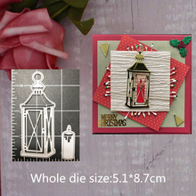 Metal Cutting Dies for candle and lamp Decoration Embossing DIY Scrapbooking 5.1*8.7cm cutting dies new
