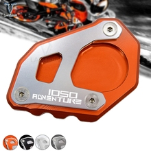 CNC Kickstand Side Stand Plate Pad Enlarge Extension for KTM 1050 1090 1190 1290 Adventure /1290 super adventure r with logo