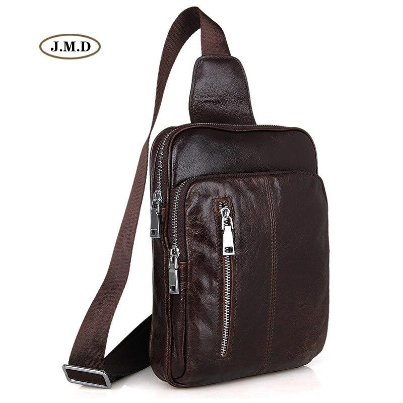 J.M.D New Arrivals Genuine Leather High Quality Mens Fashion Unique Design Chest Bag Popular Male Shoulder Bag 7215CJ.M.D New Arrivals Genuine Leather High Quality Mens Fashion Unique Design Chest Bag Popular Male Shoulder Bag 7215C