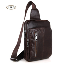 J.M.D New Arrivals Genuine Leather High Quality Men's Fashion Unique Design Chest Bag Popular Male Shoulder Bag 7215C цена 2017