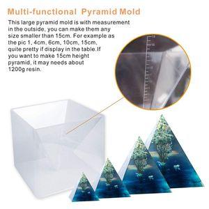 Image 4 - משלוח חינם גדול שרף תבניות פירמידת תבניות, שרף עובש סיליקון DIY Orgonite פירמידת, תכשיטי כלים, אפוקסי שרף תבניות