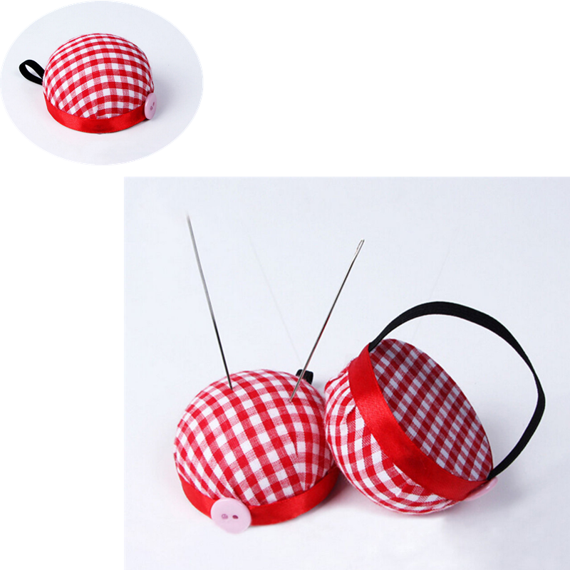 1pc Ball Shaped Needle Pin Cushion With Elastic Wrist Belt DIY Handcraft Tool for Cross Stitch Sewing Home Sewing Accessories