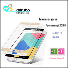 For Samsung Galaxy A3 2016 Tempered Glass 0.26mm 2.5D Full Cover Screen Protector for Samsung Galaxy A3 2016 A3100 A310F A310H стоимость