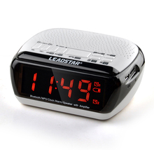 Portable Bluetooth Stéréo Haut-Parleur LCD Numérique FM Radio Double Alarme Horloge Bluetooth Stéréo Haut-Parleur de Soutien TF Carte Pour iPhone PC