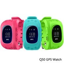 Q50Astuto Della Vigilanza Del Capretto Sicuro Orologio Da Polso OLED  SOS Anti-Perso Smart Vigilan GPS Finder Locator Tracker SI
