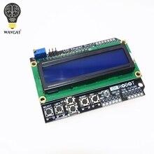 1 ШТ. ЖК Клавиатура Щит LCD1602 ЖК 1602 Модуль Дисплей Для Arduino ATMEGA328 ATMEGA2560 raspberry pi ООН синий экран WAVGAT